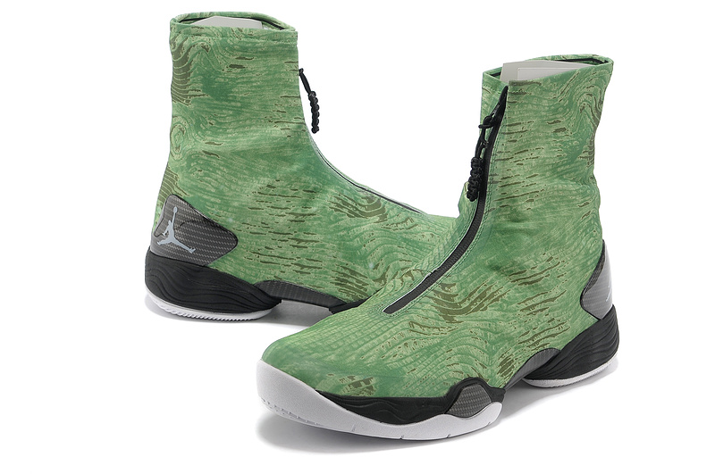 2013 New Arrival Air Jordan 28 Classic Green Black Shoes