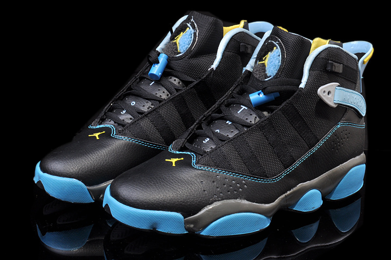 2014 Original Jordans 6 Rings Black Blue