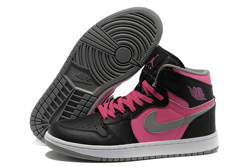 2015 Air Jordan 1 Retro High Black Pink White