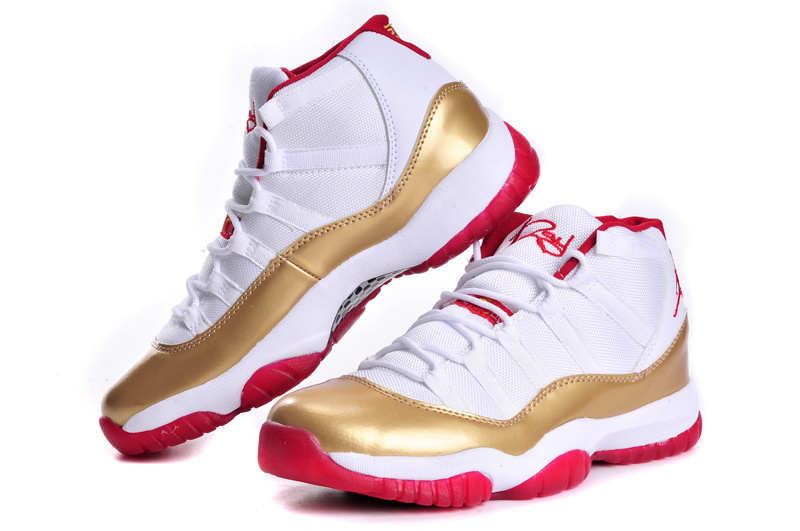 2015 Air Jordan 11 Classic White Gold Red