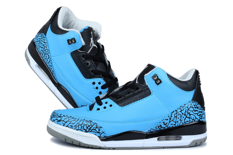 2015 Air Jordan 3 Original Blue Moon Black