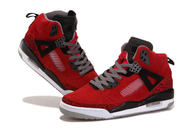2015 Air Jordan 3.5 Suede Classic Red Black White Shoes