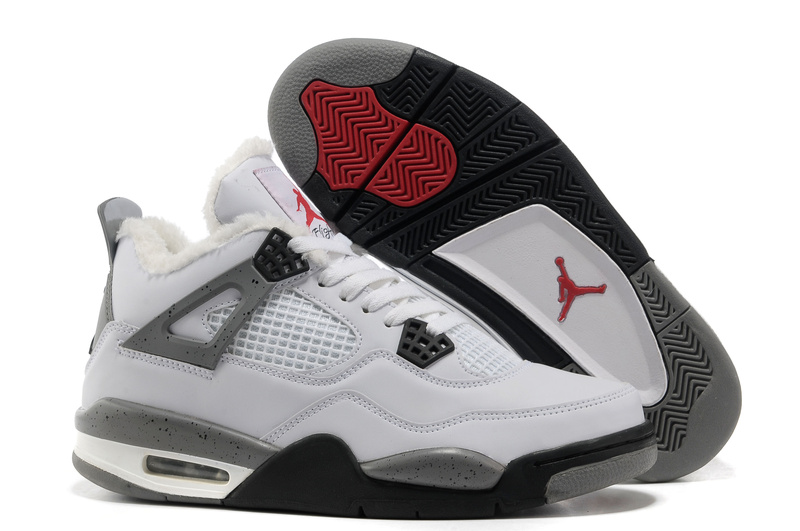 2015 Air Jordan 4 Classic Wool White Grey Black