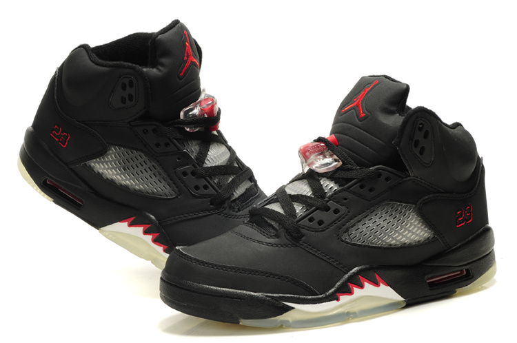 2015 Air Jordan 5 Retro Black Red White For Women