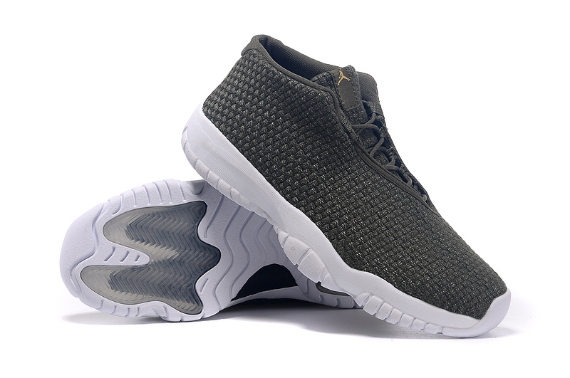 2015 Jordans Future Army Green White Shoes