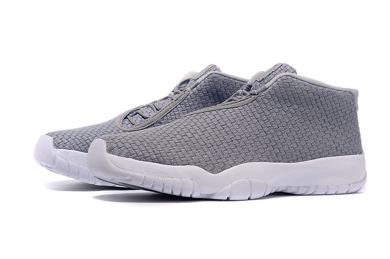 2015 Jordans Future Grey White Shoes