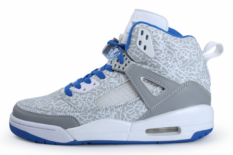 2015 Air Jordan Spizike Original White Grey Blue