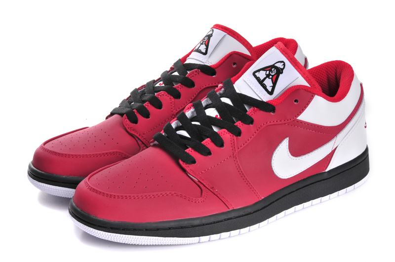 2015 Air Jordans 1 Low Red Black White_01