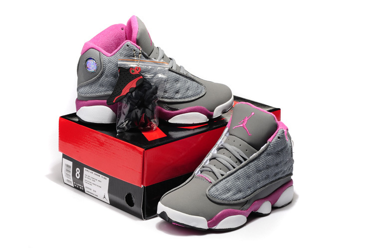 2015 Air Jordans 13 Hardback Retro Grey Pink White