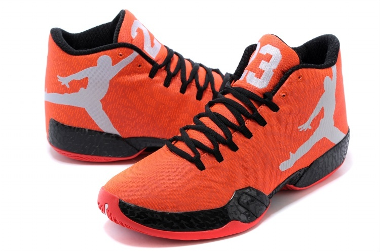2015 Air Jordans 29 Orange Black Grey Sneaker