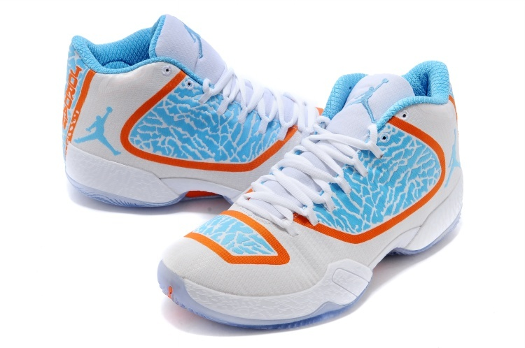 2015 Air Jordans 29 White Blue Orange Sneaker