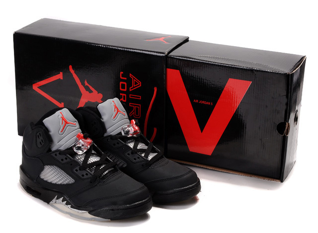 2015 Air Jordans 5 Original Hardcover Box Black White Red_05