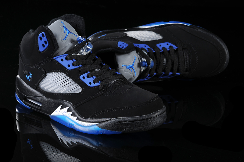 2015 Air Jordans 5 Retro Black Blue White_05