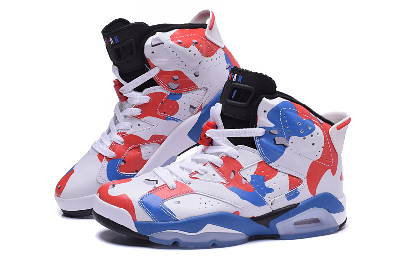 2015 Air Jordans 6 Lover White Red Blue