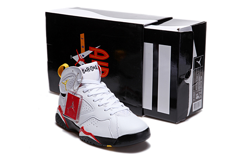 2015 Air Jordans 7 Duplicate Classic White Black Red