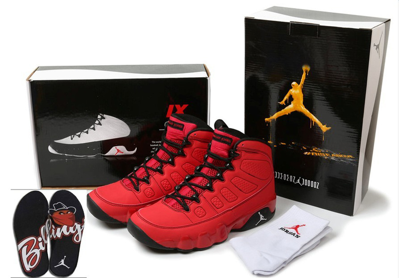 2015 Air Jordans 9 Classic Hardcover Red Black