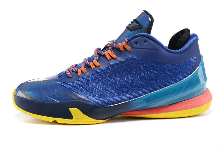 2015 Air Jordans CP3 VIII Sea Blue Pink Orange Sneaker