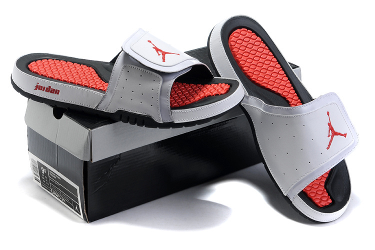 2015 Air Jordans Hydro 2 White Black Red Sandal