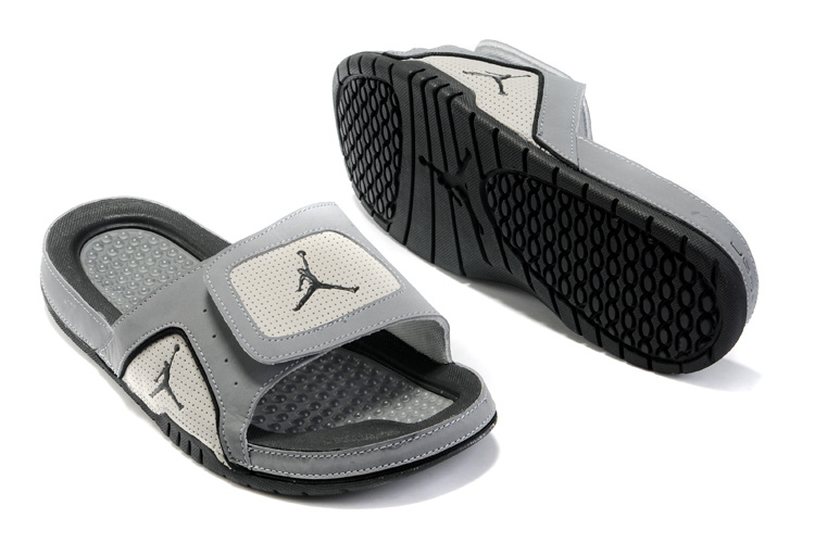 2015 Air Jordans Hydro 5 Grey Black Sandal
