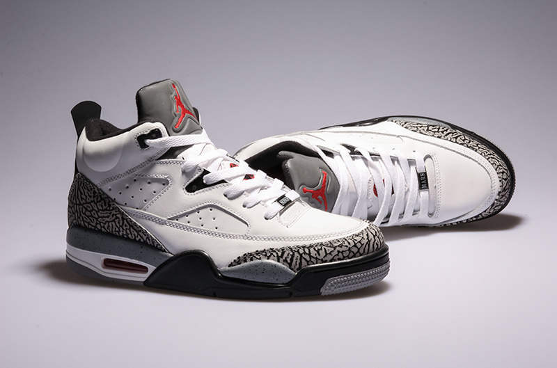 2015 Air Jordans Spizike White Grey Sneaker