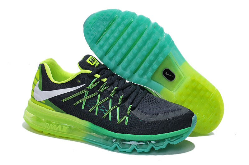 2015 Air Max Black Green Blue Lover Shoes