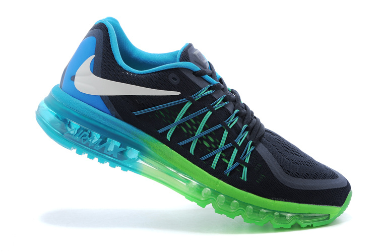 2015 Air Max Black Blue Green Cushion Runnings