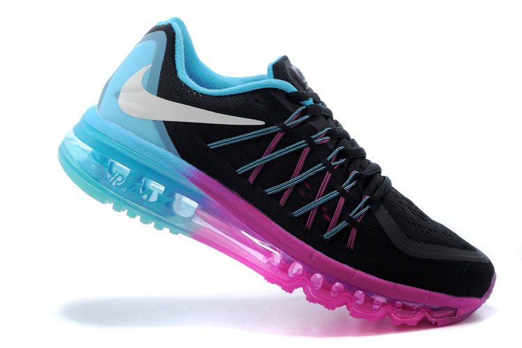 2015 Air Max Black Blue Pink Running Shoes