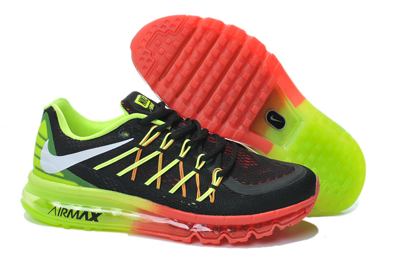 2015 Air Max Black Green Red Lovers Running Shoes