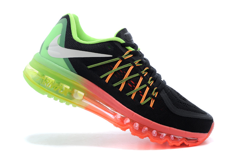 2015 Air Max Black Green Red Running Cushion Shoes