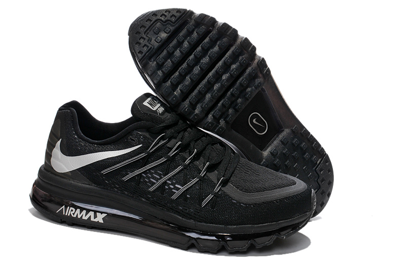 2015 Air Max Black Grey Lovers Running Shoes