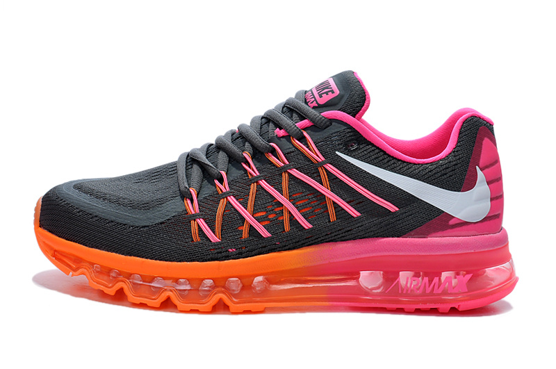 2015 Air Max Black Orange Pink Women Shoes