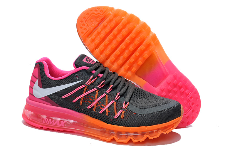 2015 Air Max Black Orange Red Women Runings