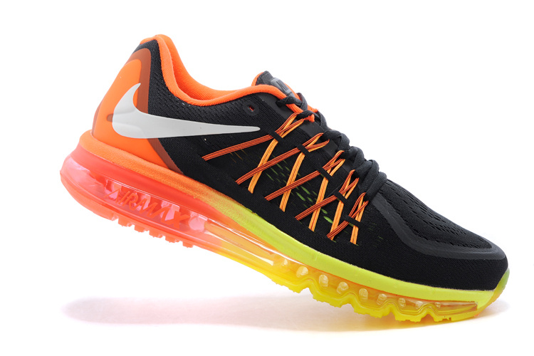 2015 Air Max Black Orange Yellow Cushion Runnings