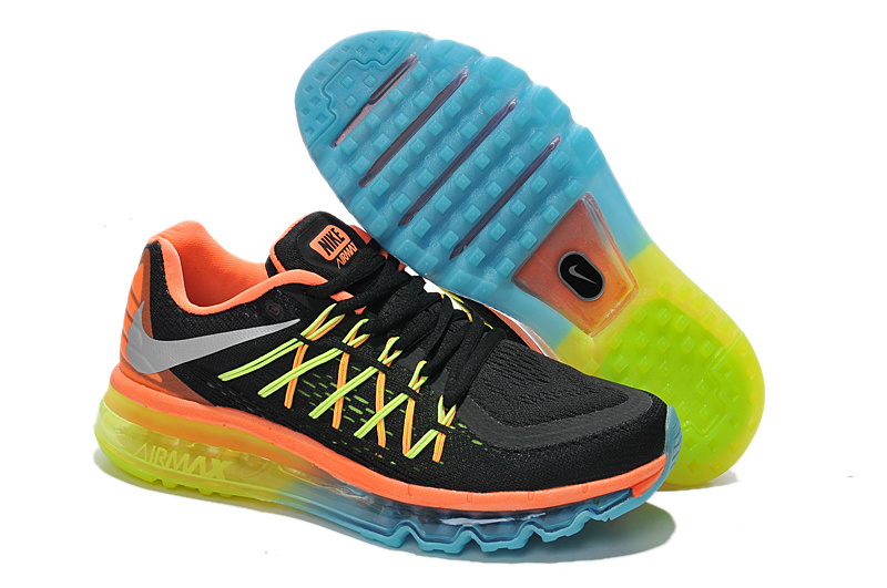 2015 Air Max Black Orange Yellow Running Shoes