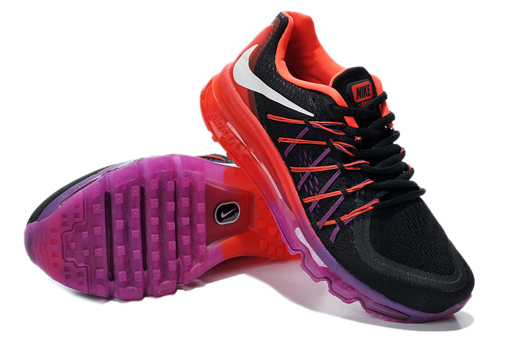 2015 Air Max Black Red Running Shoes