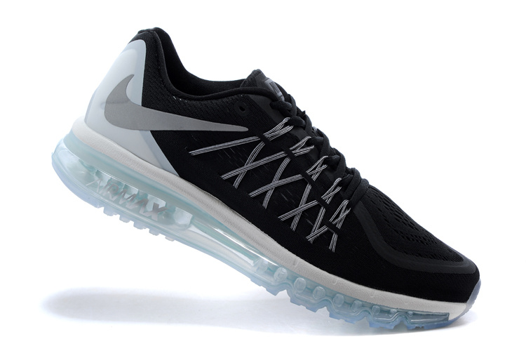 2015 Air Max Black Sliver Cushion Shoes