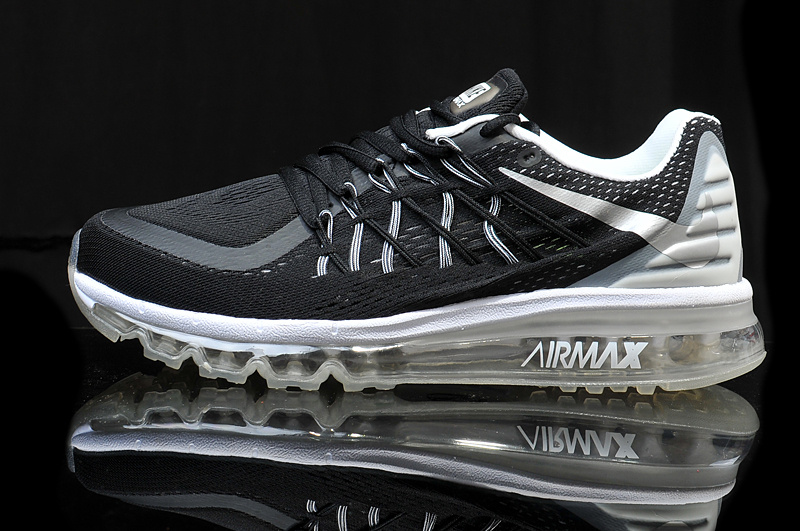 2015 Air Max Black White Green Men SHoes