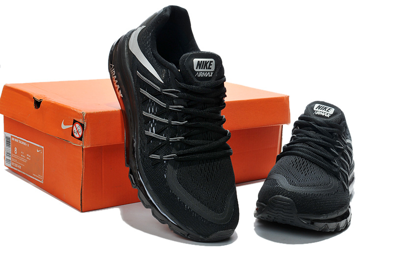 2015 Air Max Black White Men Running Shoes