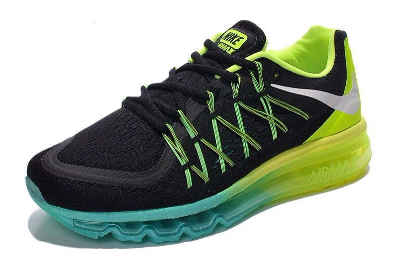 2015 Air Max Black Yellow Blue Lovers Running Shoes