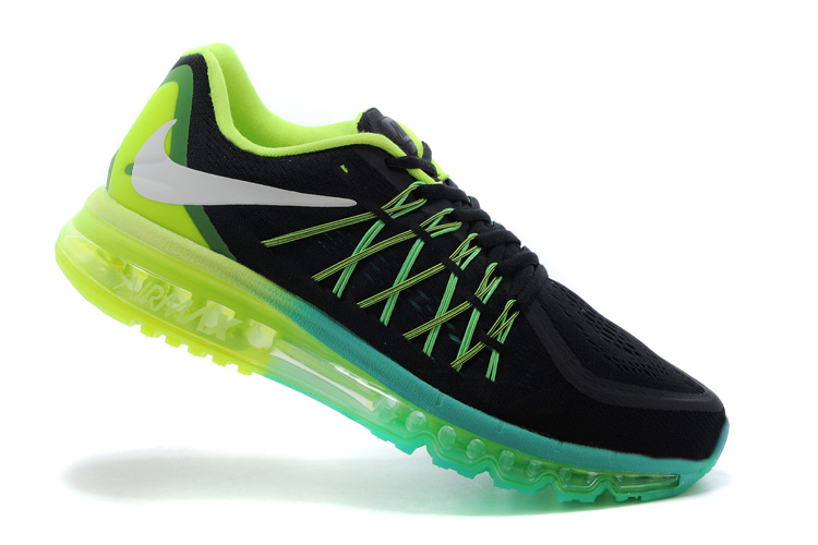 2015 Air Max Black Yellow Green Running Shoes