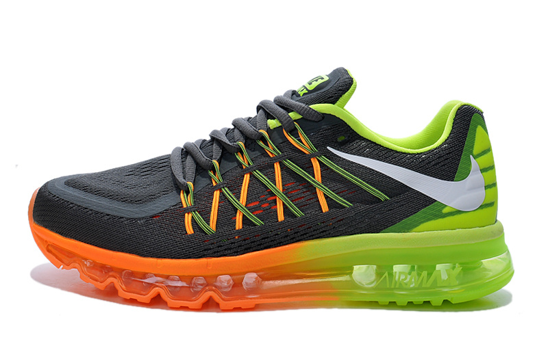 2015 Air Max Black Yellow Orange Lovers Shoes