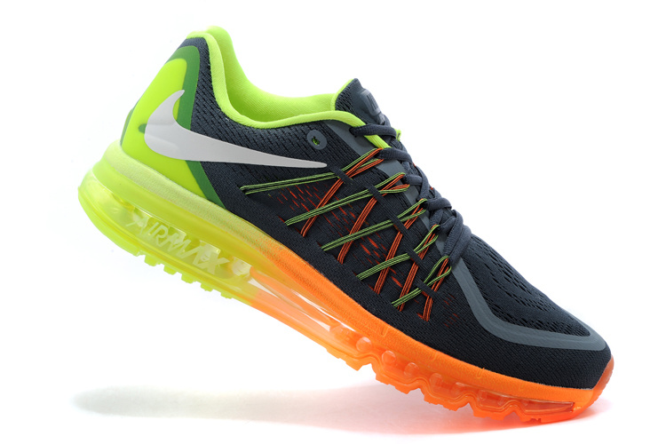 2015 Air Max Cushion Grey Black Orange Gren Runnings