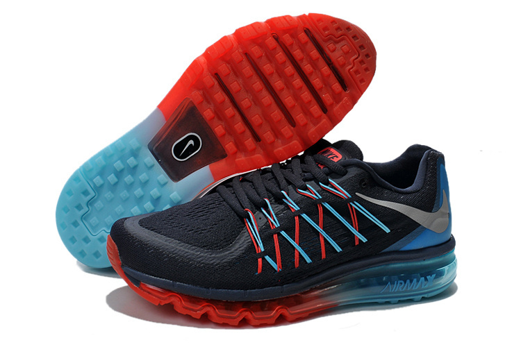 2015 Air Max Dark Blue Black Red Men Running Shoes