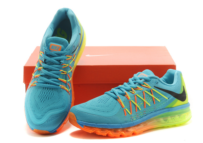2015 Air Max Green Orange Yellow Men Running
