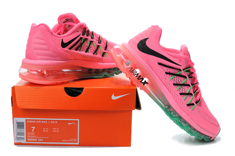 2015 Air Max Pink Red Green Women Running Shoes