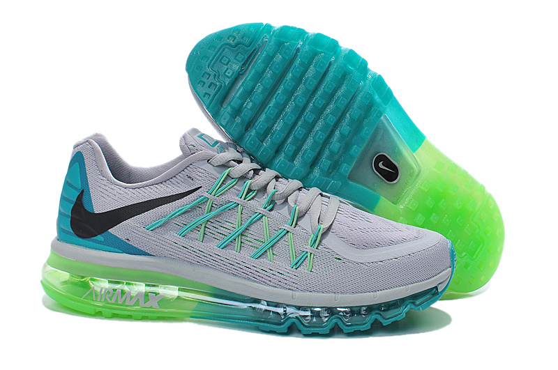 2015 Air Max White Green Blue Men Running Shoes