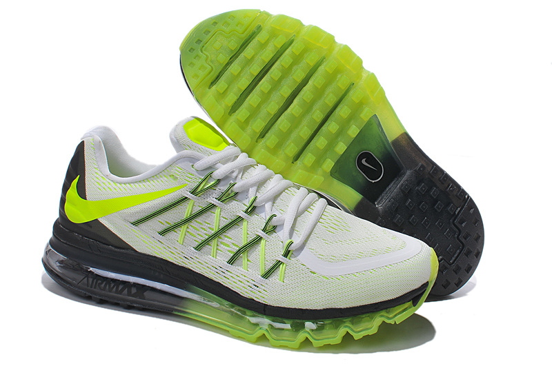 2015 Air Max White Green Glow In Dark Running For Men