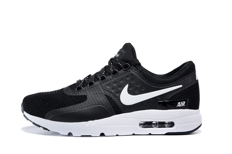 2015 Air Max Zero Black White Women Running Shoes