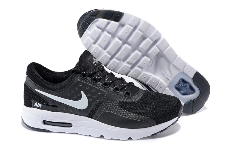 2015 Air Max Zero Black White Lovers Running Shoes