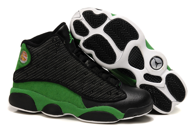 2015 Air jordans 13 Classic Black Green